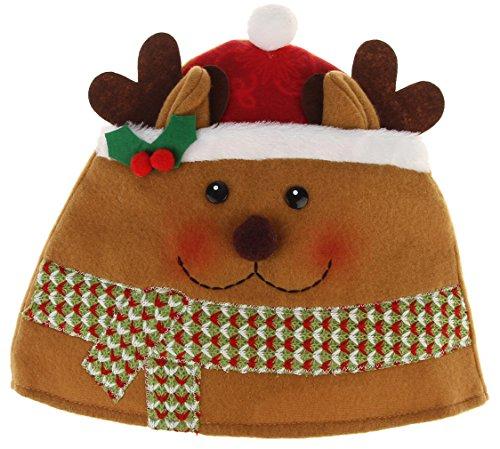 La Vogue-Cappello di Natale Adulti Unisex Babbo Natale Berretto Vestire Decorazione Costume Accessori Cervo 25*22cm