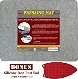 Wool Pressing Mat - 17' x 13.5' Quilting Ironing Pad - Easy Press...