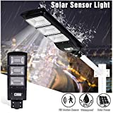Solar Street Light Outdoor,Makaor 20/40/60/90W LED Solar Light Radar Sensor Solar Wall Timing Lamp,Garden Lights Solar Security Led Flood Light for Yard, Path,Garden,IP67 Waterproof