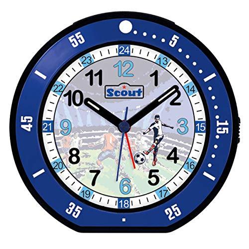 Scout 280001004 Wecker, Kunststoff, Blau, 12 x 12 cm