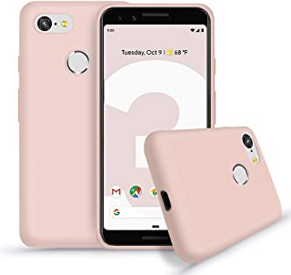 Google Pixel 3 Silicone Case,[Support Wireless Charging] Drop Shockproof Full Body Protection Matte Case Gel Rubber Silicone Phone Case with Soft Cushion for Google Pixel 3 5.5 inch 2018 Release-Pink