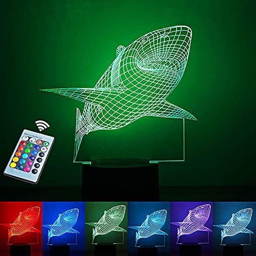 Luz nocturna 3D para niños, interruptor táctil Control remoto Cambio de 16 colores -Luces de la casa Regalos perfectos Festival de cumpleaños Navidad para bebés y adolescentes Amigos