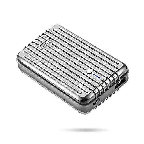 Zendure A3TC 10000mAh Powerbank, tragbares Ladegerät mit USB-C,Dualer Ausang für iPhone und andere Smartphone- Silber