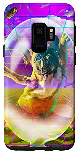 Galaxy S9 French Bulldog Dog Dogs Rave Trippy Psychedelic Funny Case