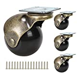 2-inch Ball Caster wheel,Perfect Replacement Wheels for Small Sofa,Cabinet,Dresser,Storage...