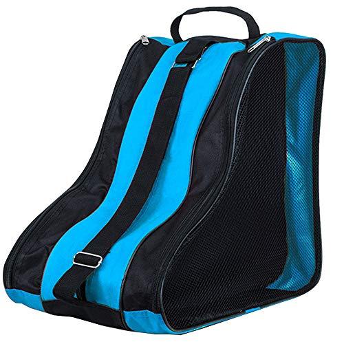 YOFASEN Bolsa para Patines Unisex - Patines de Hielo Ice Skate Bag Mochila Patines en Linea Adulto Niños Azul