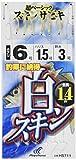 ハヤブサ(Hayabusa) これ一番 白スキンサビキ 6本鈎 4-0.8 HS711-4-0.8