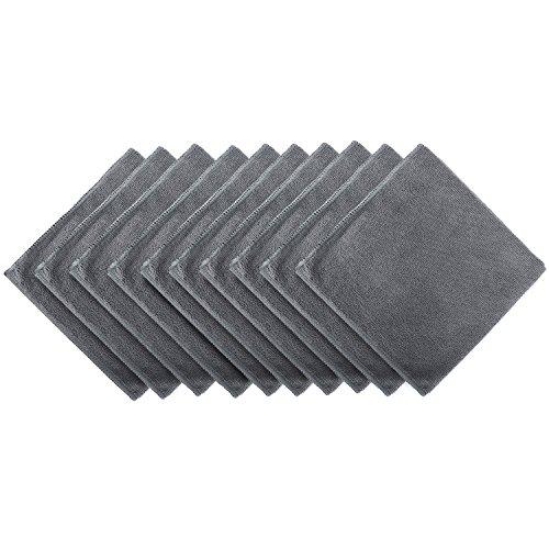 BONORUM Premium paños de microfibra con 300 GSM (!) - Perfecto para la limpieza de automóviles, motocicletas o del hogar - 10 piezas - Diseño elegante - muy absorbente y libre de pelusas - 40 x 40 cm