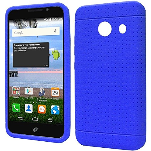 FastSun Soft Silicone Skin Gel Cover Case for Huawei Pronto LTE SnapTO H891L G620 Phone (Blue)