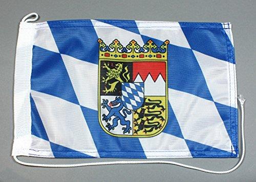 Buddel-Bini Bootsflagge Bayern 20 x 30 cm in Profiqualität Flagge Motorradflagge