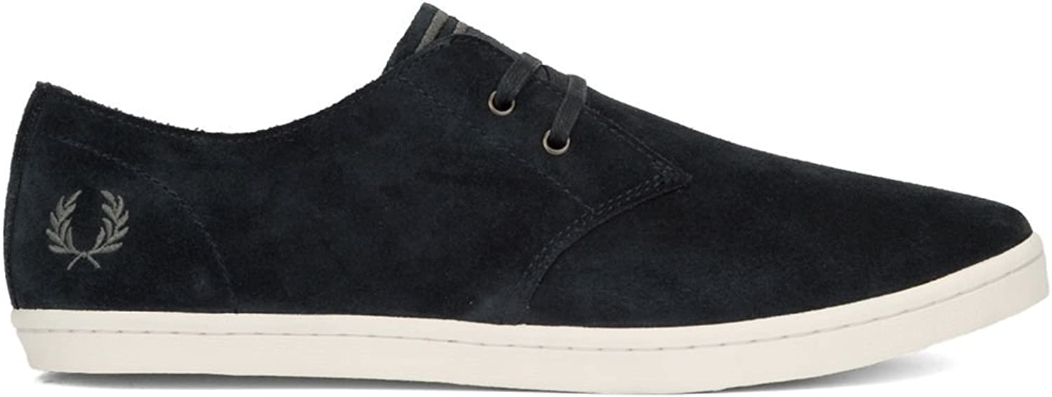Fred Perry Byron Low Suede Navy Falcon Grey B7401248, Trainers - 40 EU