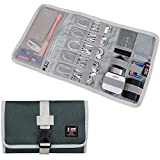 Electronic Organizer, BUBM Travel Cable Bag/USB Drive Shuttle Case/Electronics Accessory Organizer for Home Office-Olive Green