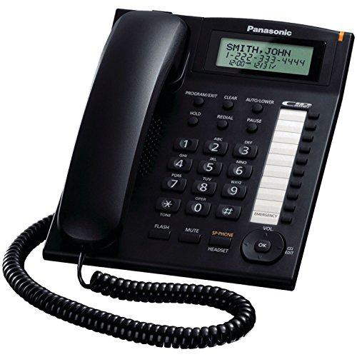 Panasonic Consumer KX-TS880B Single Line Phone w Dialer Sta