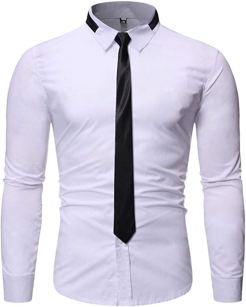 MODOQO Men's Shirts Casual Business Solid Lapel Collar Button Down Shirt Corduroy Tops