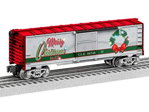 Lionel Christmas, Electric O Gauge Model Train Cars, Christmas Light Express Boxcar