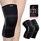 OxOFit - Strong as an Ox Knee Braces for Men's and Women's Pain Relief Compression Sleeve Knee Cap Support for Running, Weightlifting, Sports, Squats, Gym Workout, Crossfit (Medium, Single, Double)