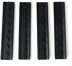 Green-Valley113 - A type black 4 pieces Tactical KeyMod Rubber soft Rail Cover