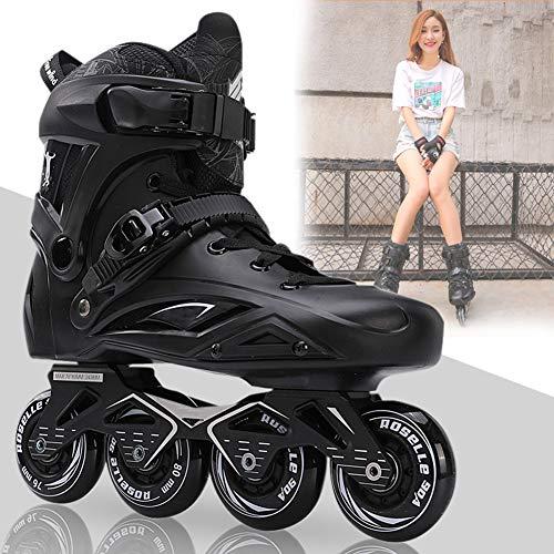YXYLD Inline Skates Anfänger, Rollschuhe Inline Mann und Frau, Rollschuhe mit rutschfesten Sicherheitsrädern Indoor Outdoor Inline Race Skating