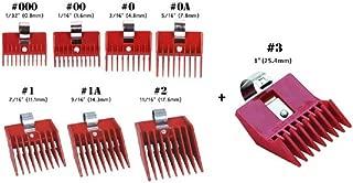8pc Speed O Guide Universal Clipper Comb Attachments 8 Diff Size Set (No. 000, No. 00 No. 0, No. 0a, No. 1, No. 1a, No. 2, No. 3)