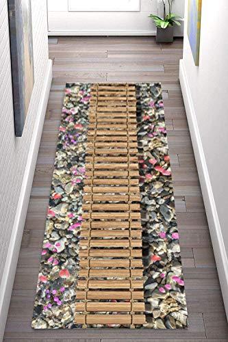 Korridor Teppich- Wohnzimmer Teppich, Flur Läufer Teppich Modern Style, Breite 60cm / 80cm / 90cm erhältlich, rutschfest, Länge Anpassbare (Size : 0.9×3m)