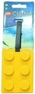 lego brick luggage tag