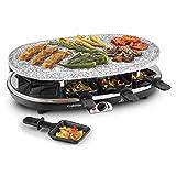 Klarstein Steaklette Full Taste - Griglia da Tavolo, Griglia Raclette, Bistecchiera, Barbecue Party,...