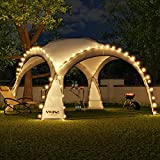 Swing & Harmonie LED Event Pavillon 3,6 x 3,6m DomeShelter Garten Pavillion inkl. Solarmodul...