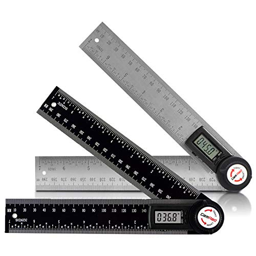 GemRed Stainless Steel Angle Finder & New Color Protractor