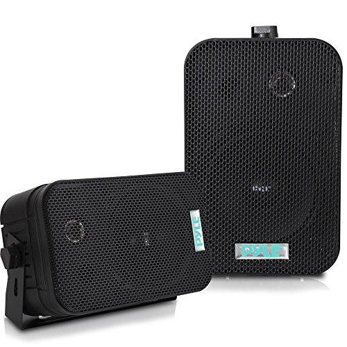 """PYLE PDWR40B 5.25\"""" Indoor/Outdoor Waterproof Speakers (Black"""