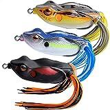 TRUSCEND Angeln Köder Japan Design Swimbait Frosch Topwater Soft Baits Weedless BKK Haken für Bass Musky Forelle Angeln Tackle Süßwasser schwimmende künstliche lebensechte Köder