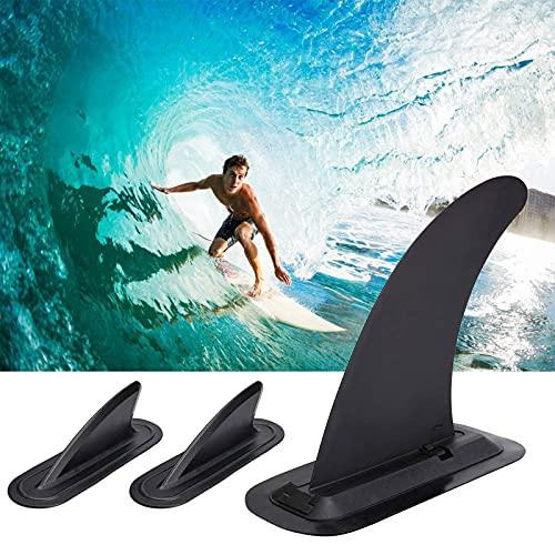 YooGeek 1 pinna da surf grande con 2 pinne, in PVC, rinforzato, di ricambio per kayak, longboard, surf, paddleboard