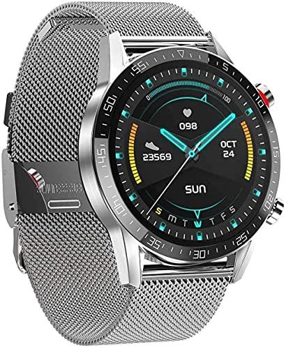 Reloj inteligente de 1,3 pulgadas de color para hombre, rastreador de actividad IP68, resistente al agua, con monitor de ritmo cardíaco, monitoreo del sueño, podómetro-C