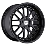 TSW VALENCIA Black Wheel with Painted Finish (19 x 9.5 inches /5 x 114 mm, 40 mm Offset)