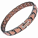 MagnetRX Women's Pure Copper Magnetic Therapy Bracelet Ultra Strength Double Magnet Pain Relief for Arthritis and Carpal Tunnel