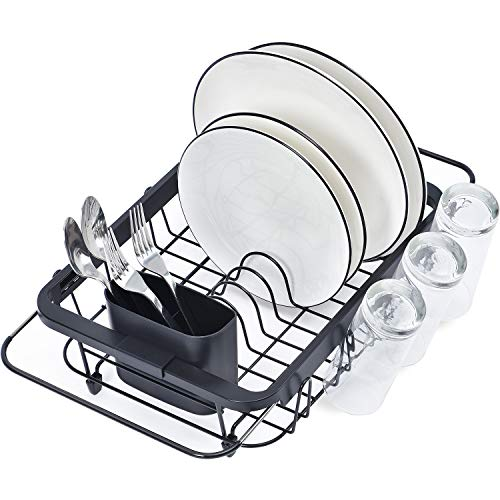 TOOLF Expandable Over The Sink Adjustable Dish Rack