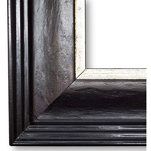 Online Galerie Bingold Bilderrahmen Dresden Schwarz-Braun 7,6 I 60 x 80 cm als Leerrahmen (LR) I handgefertigte Holz Fotorahmen Posterrahmen Urkundenrahmen I Leerrahmen Holz inkl. Montagematerial