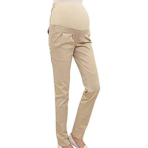 4b5a295d8e0 MTRNTY Women s Maternity High Elastic Waist Comfortable Regular Fit Plain  Pants