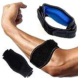PUSTER Epicondylitis Spange, (2 Stück) Tennisarm Bandage, Leichter und Verstellbarer Schlaufenriemen am Ellbogenarm für Schmerzlinderung Beim Golfer und Tennisellenbogen und Unterstützung -