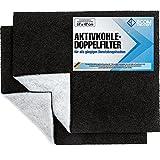 Ecom Delivery® Aktivkohlefilter für Dunstabzugshaube [2 Stück]   Universal Filter Abzugshaube Küche   Zuschneidbare Filtermatte für Dunstabzug   Fettfilter Aktiv Kohle