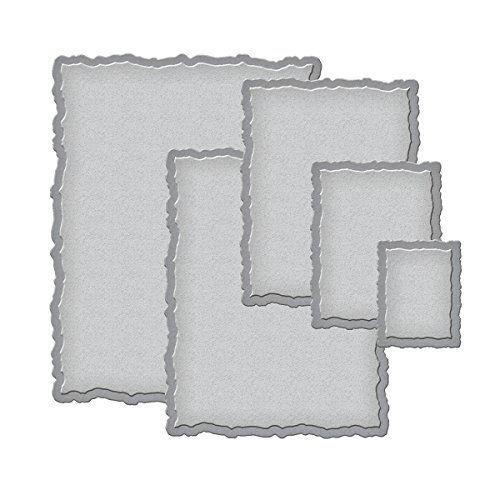 Spellbinders Nestabilities Deckled Rectangular–Plantilla de Troquelado, Deckled Rectangles Large, Large