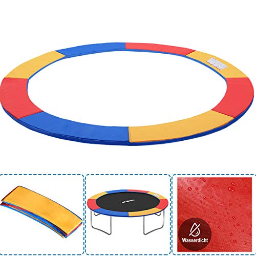 Cubierta para borde de cama elástica de PVC para trampolín, resistente a los rayos UV, 30 cm de ancho, color azul y multicolor, Para camas elásticas de 244-250 cm de diámetro, multicolor.