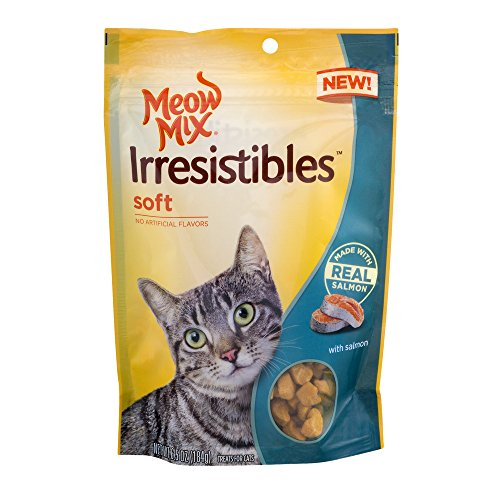 Price comparison product image Meow Mix Irresistibles Soft Cat Treats with Real Salmon,  6.5 oz. (203095)