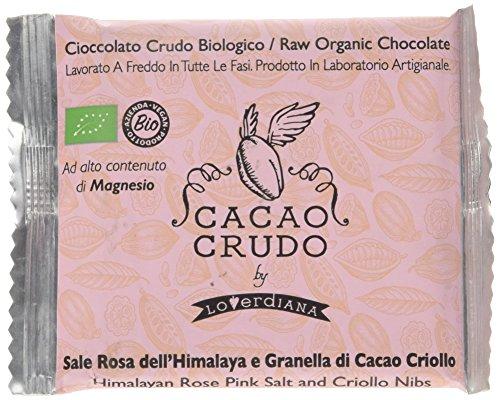 Cacao Crudo - Tavoletta di Cioccolato Fondente al Sale dell'Himalaya e Granella di Cacaio Criollo