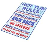 MeowPrint Hot Tub Rules Oudoor Sign for spa Yard Funny Tin Sign 8x12IN