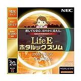 NEC 丸形スリム蛍光灯(FHC) LifeEホタルックスリム 20形 電球色 FHC20EL-LE-SHG