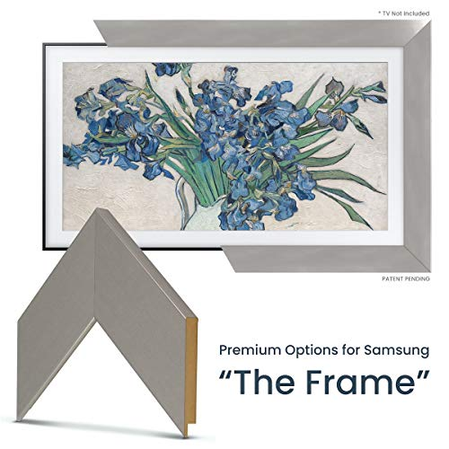 Find Bargain Deco TV Frames - Brushed Stainless Frame Custom for Samsung The Frame TV (65)