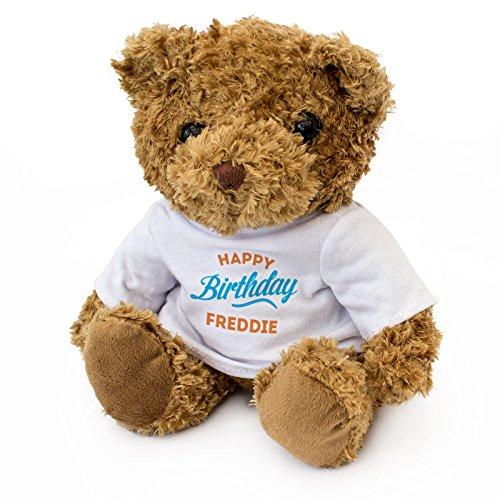 Teddybeer Happy Birthday Freddie – lief zachter knuffelig – cadeau
