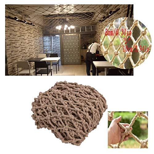Attracties reling veiligheidsnet, Vintage decoratief net Plafondnet Trapleuning Partitienetwerk Tuinhek Speelnetten voor de speeltuin, 2 * 8m (Size : 1 * 1m(3 * 3ft))