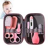 8-teiliges Baby-Pflege-Set, tragbar, für das Kinderzimmer, mit Haarbürste, Kamm, Nagelknipser, Baby-Thermometer für Neugeborene, Mädchen, Jungen
