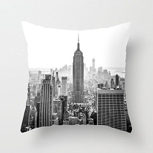 New York City Coussin de canapé Coque Home Couvre-lit décoratif Taie d'oreiller pour canapé d'extérieur Taie d'oreiller 45 x 45 cm